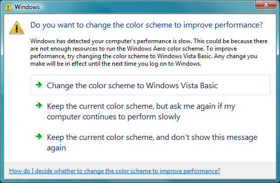 Slow Performance in Windows Vista