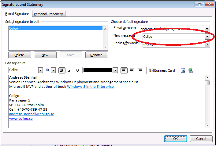 how to create email signature in outlook