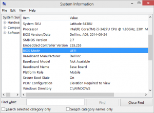 Using msinfo32 in Windows 8, 8.1 or 10 will give you straight info on if you are running in UEFI or Legacy (BIOS) mode.